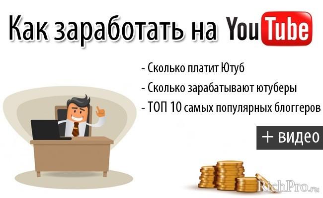 Как заработать на Youtube на своих видео - всё про заработок на YouTube