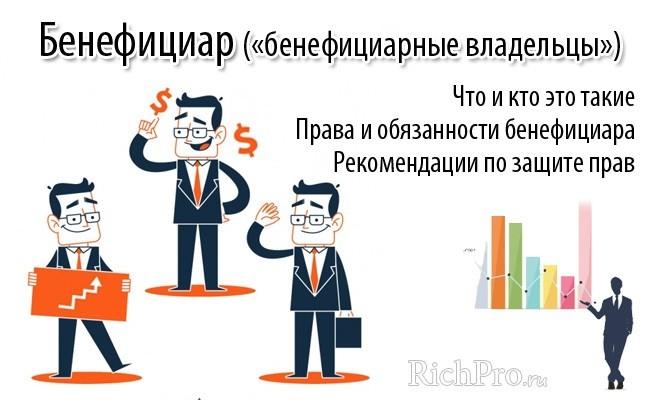 Конечный бенефициар - что это такое простыми словами: учредитель или генеральный директор? Кто такой бенефициарный владелец юридического лица, выгодоприобретатель и бенефициар