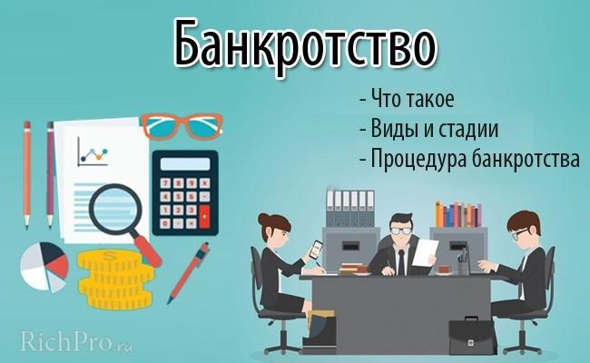 банкротство понятие процедуры банкротства