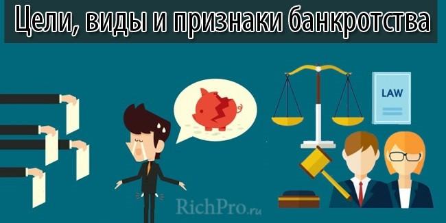 признаки и виды банкротства
