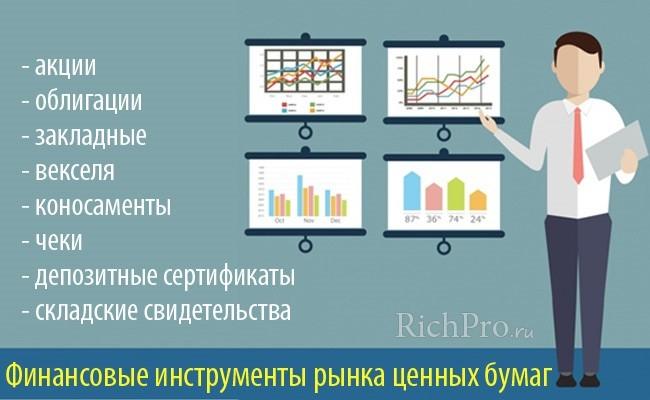 Чем торгуют на фондовом рынке - 4 инструмента