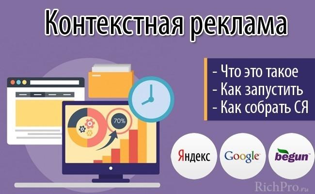 контекстная реклама что это такое - реклама сайта в яндексе и гугле