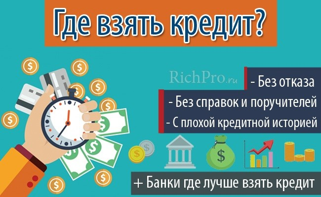 Как и где можно взять кредит с плохой кредитной историей без отказа - помощь + банки