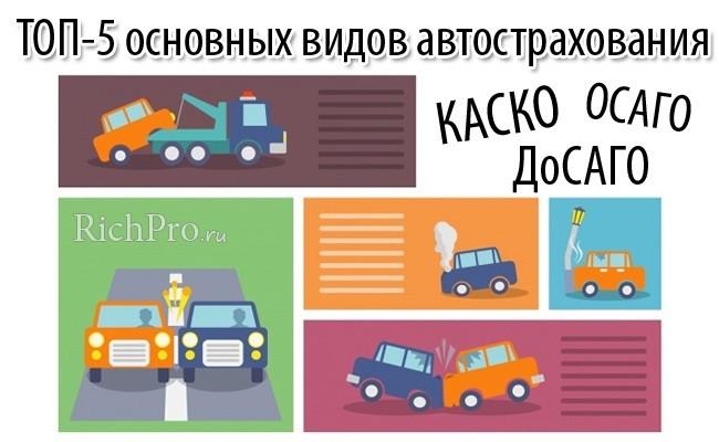 Какие бывают виды автострахования - 5 основных