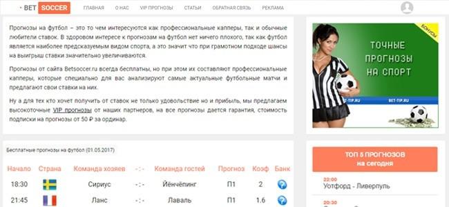 Betsoccer бесплатные точные прогнозы на спорт от капперов и новичков
