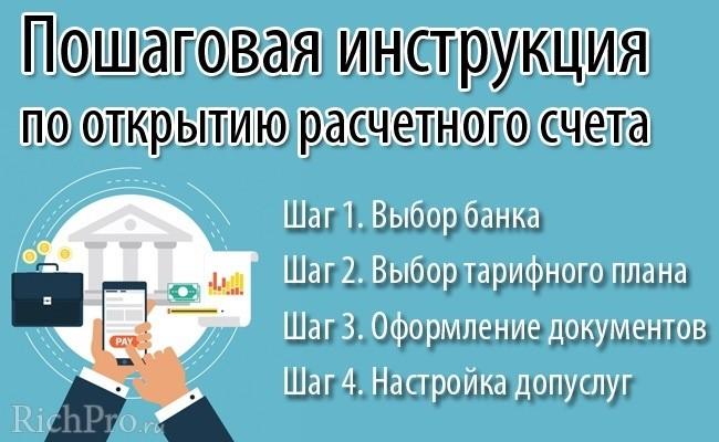 Открытие расчётного счёта для ИП и ООО - пошаговая инструкция