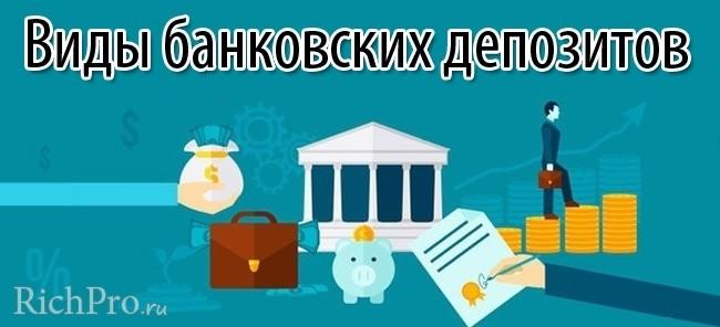 Виды банковских вкладов и депозитов