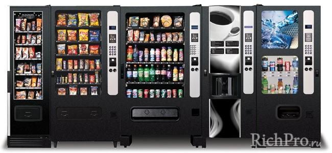 Продажа товаров через вендинговые автоматы