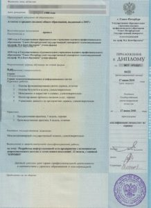 Приложение к диплому эксперта Ричпро