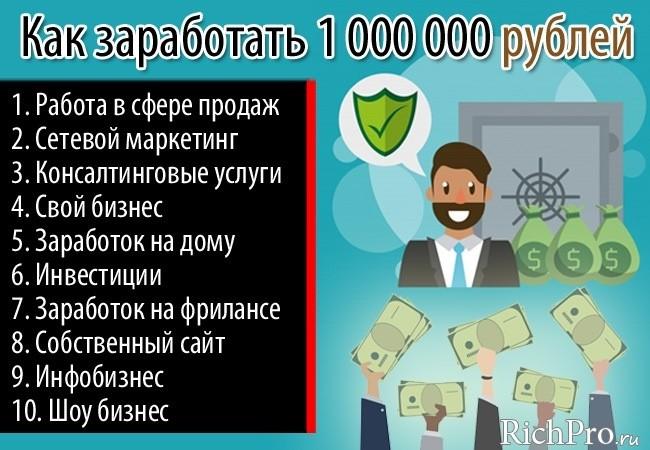 как зарабатывать 3000000 рублей в месяц мужчина вечером занят
