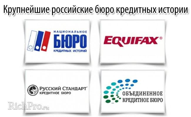 Самые крупные бюро кредитных историй
