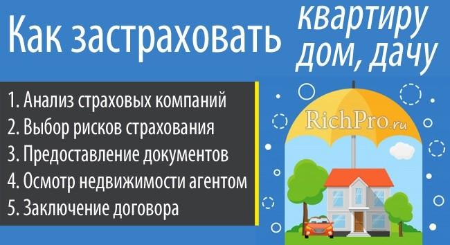 Инструкция, как страховать квартиру, дом и дачу